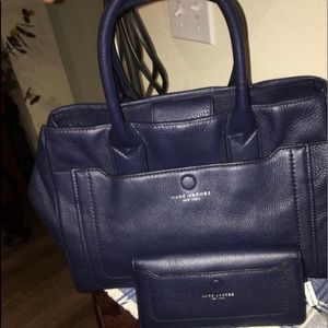 Marc Jacobs navy leather